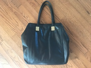 Claudia Ciuti Black Leather Tote Purse
