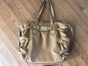 MK Brown Leather Satchel Bag