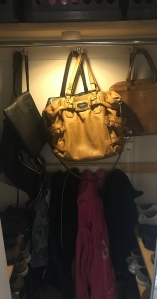 Purse Storage in Coat Closet