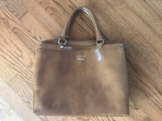 IACUCCI Brown Patent Leather Purse